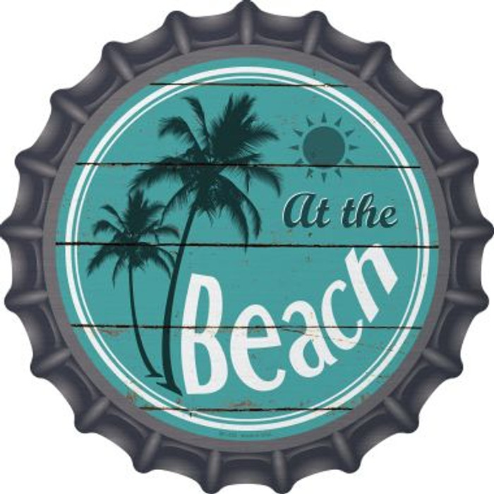 At The Beach Novelty Metal Bottle Cap BC-829