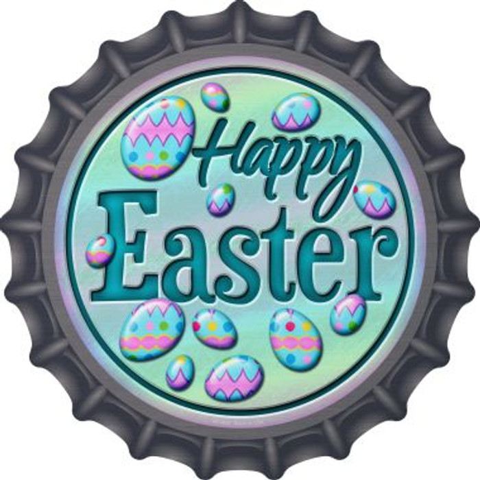 Happy Easter with Eggs Novelty Metal Bottle Cap BC-832