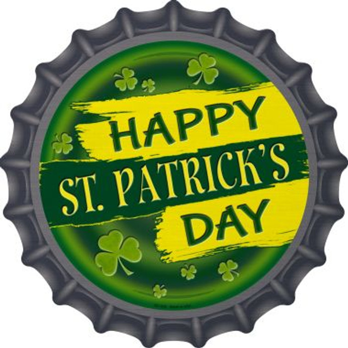 Happy St. Patrick's Day Novelty Metal Bottle Cap BC-836