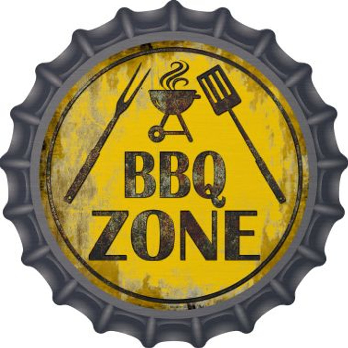BBQ Zone Novelty Metal Bottle Cap BC-837