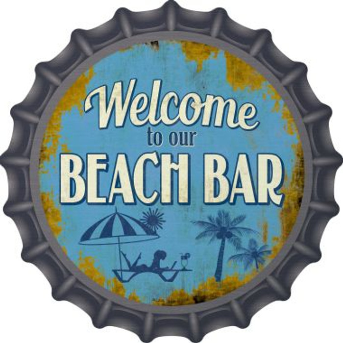 Welcome to our Beach Bar Novelty Metal Bottle Cap BC-846