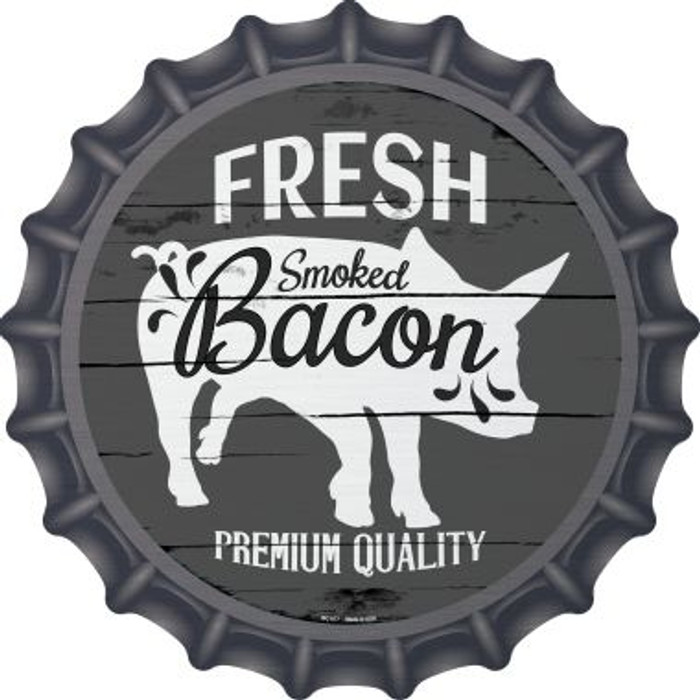 Fresh Smoked Bacon Novelty Metal Bottle Cap BC-877