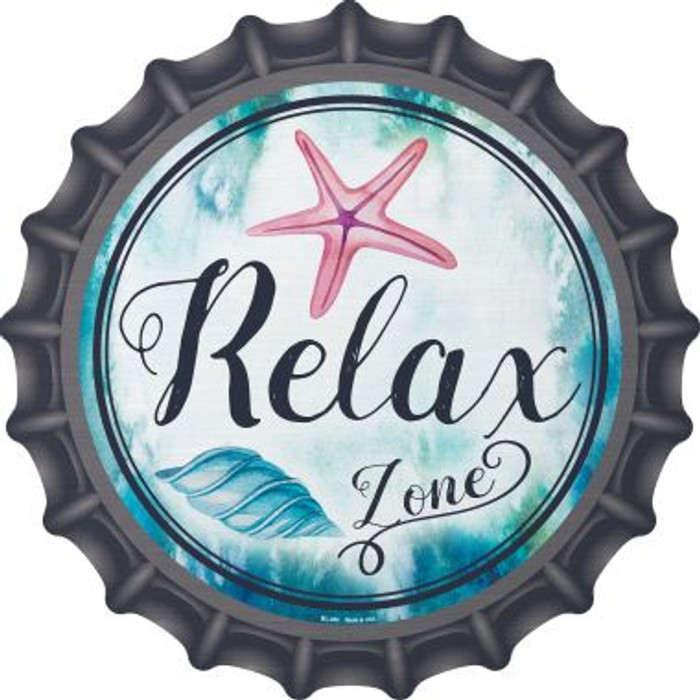 Relax Zone Novelty Metal Bottle Cap BC-885
