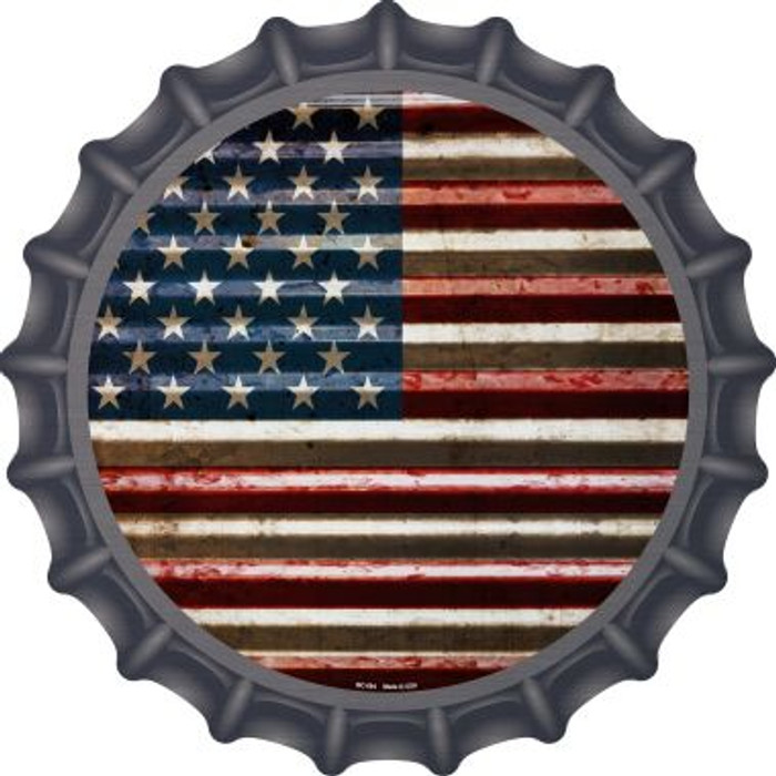 American Flag Novelty Metal Bottle Cap BC-894