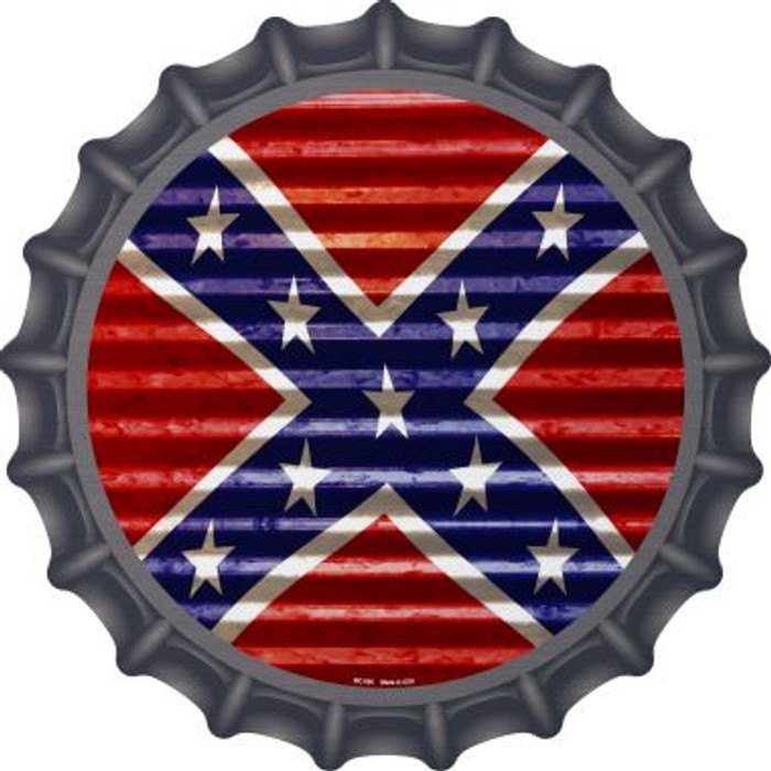 Confederate Flag Novelty Metal Bottle Cap BC-895