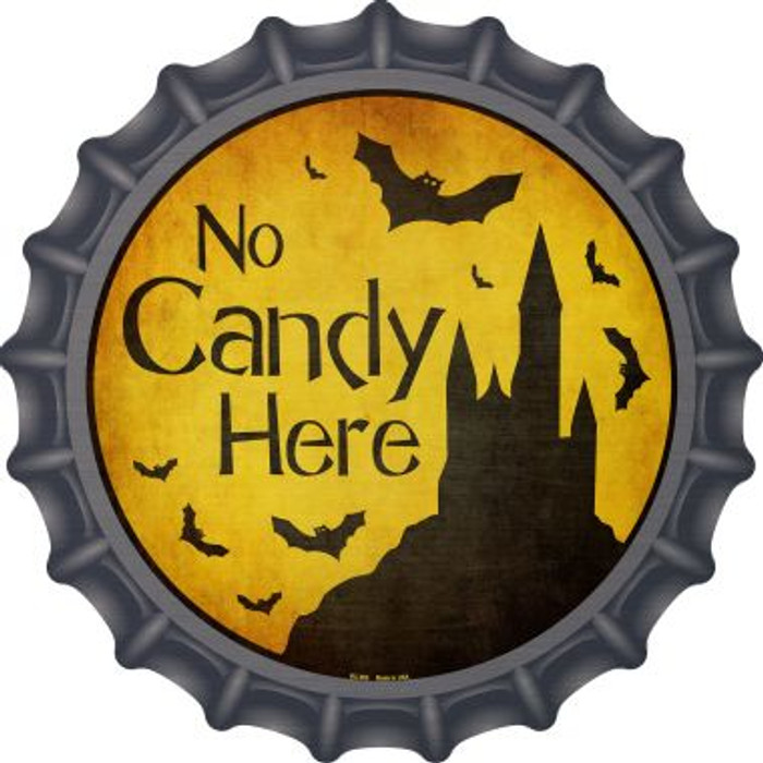 No Candy Here Novelty Metal Bottle Cap BC-985