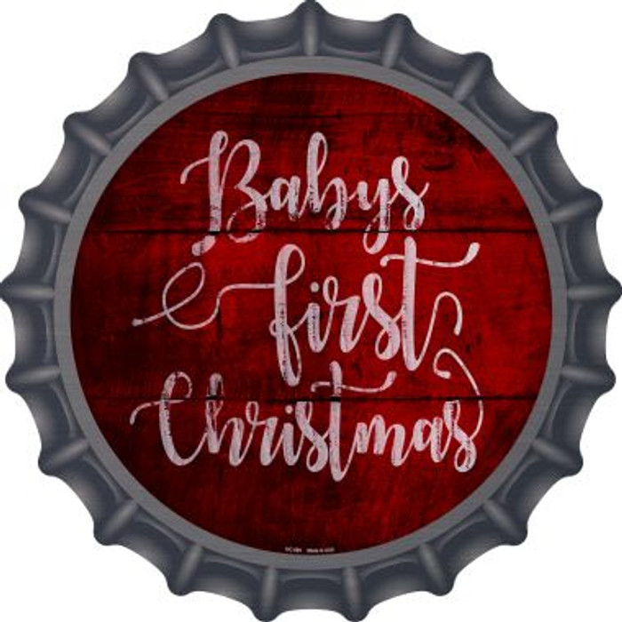 Babys First Christmas Novelty Metal Bottle Cap BC-989