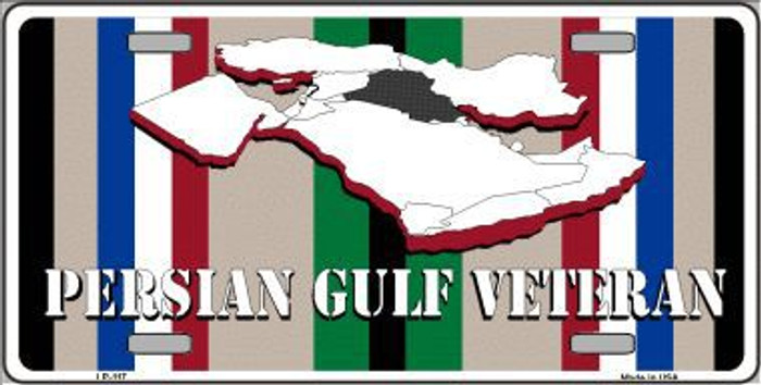 Persian Gulf Veteran Novelty Metal License Plate