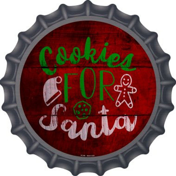 Cookies For Santa Novelty Metal Bottle Cap BC-998