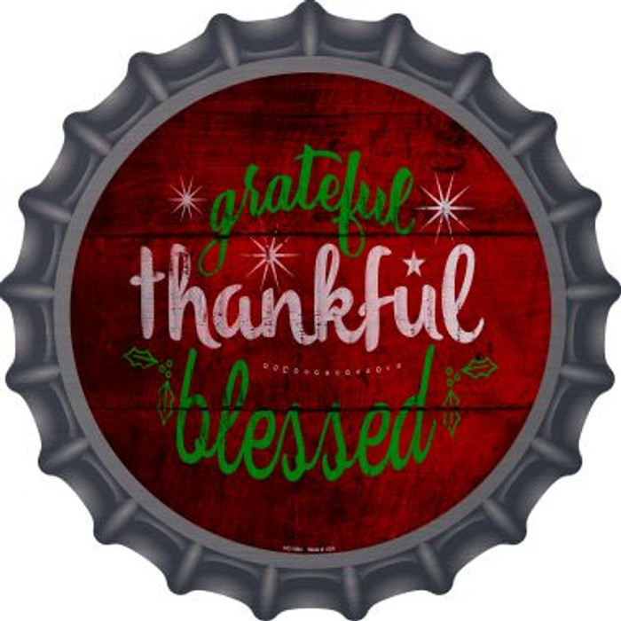 Grateful and Blessed Novelty Metal Bottle Cap BC-1004