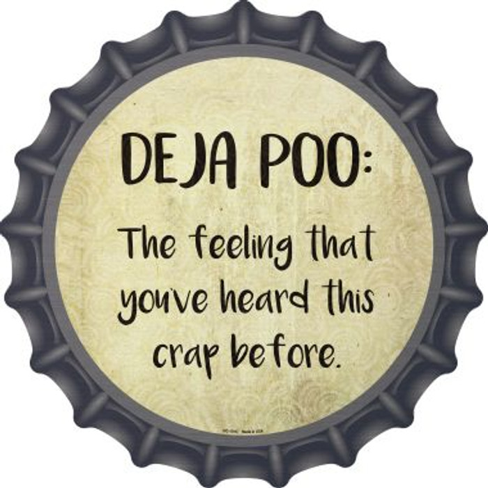 Deja Poo Definition Novelty Metal Bottle Cap BC-1015
