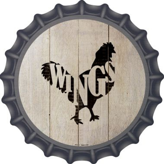 Chickens Make Wings Novelty Metal Bottle Cap BC-1071