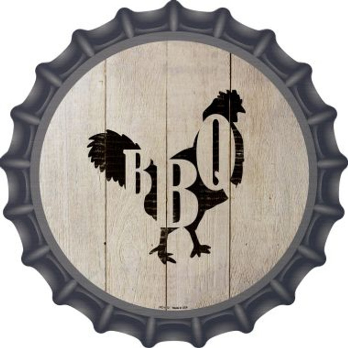Chickens Make BBQ Novelty Metal Bottle Cap BC-1072