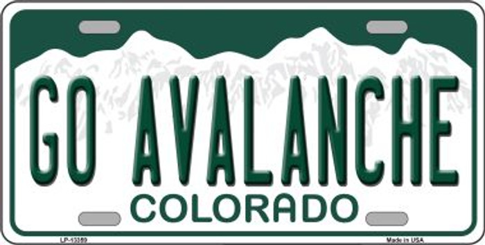 Go Avalanche Novelty Metal License Plate Tag LP-13359