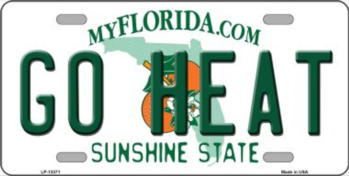 Go Heat Novelty Metal License Plate Tag LP-13371
