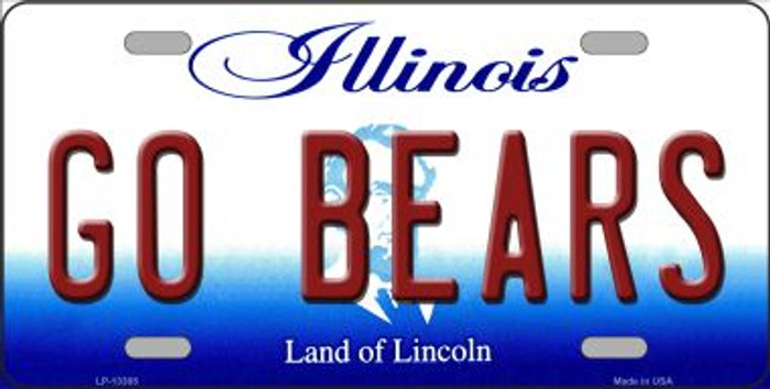 Go Bears Novelty Metal License Plate Tag LP-13385