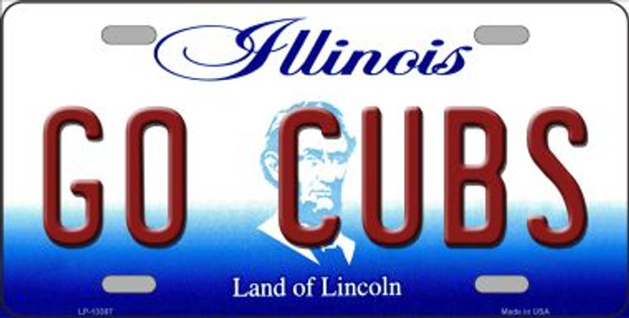 Go Cubs Novelty Metal License Plate Tag LP-13387