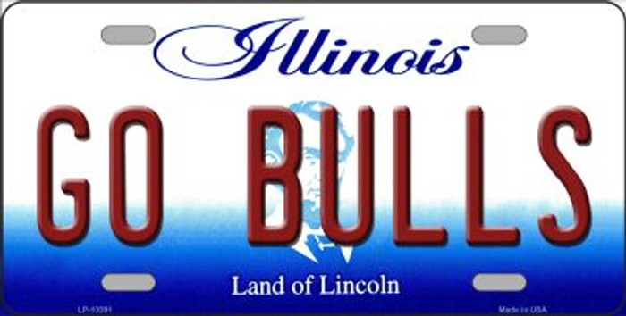 Go Bulls Novelty Metal License Plate Tag LP-13391