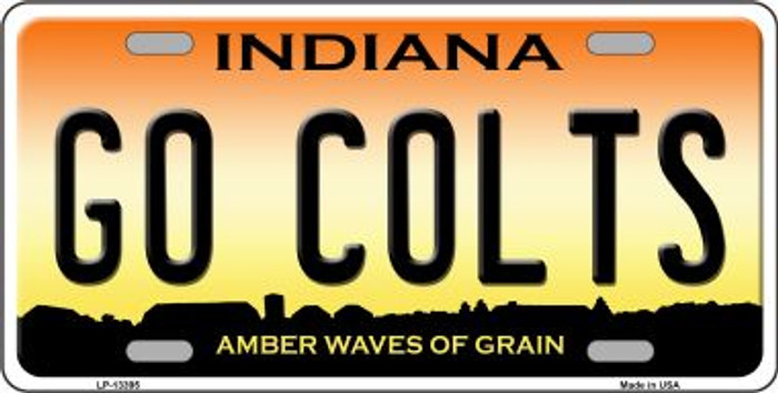 Go Colts Novelty Metal License Plate Tag LP-13395