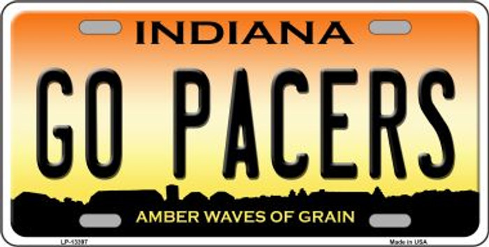 Go Pacers Novelty Metal License Plate Tag LP-13397