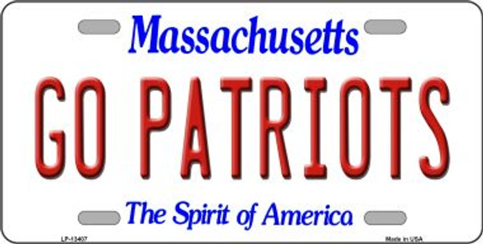 Go Patriots Novelty Metal License Plate Tag LP-13407