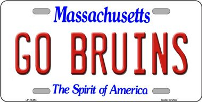 Go Bruins Novelty Metal License Plate Tag LP-13413