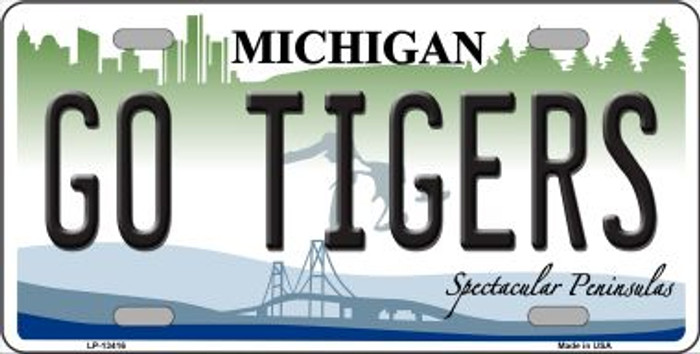 Go Tigers Novelty Metal License Plate Tag LP-13416