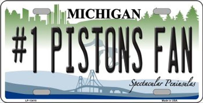 Number 1 Pistons Fan Novelty Metal License Plate Tag LP-13418