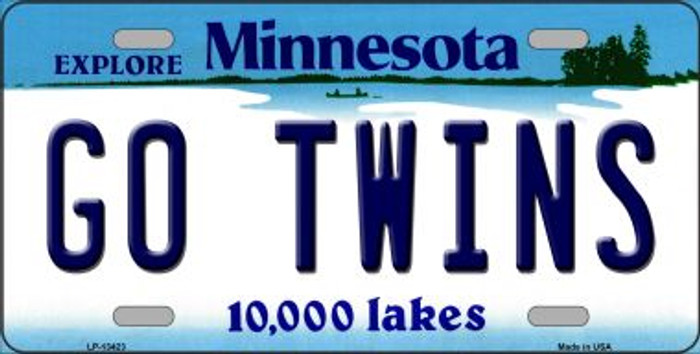 Go Twins Novelty Metal License Plate Tag LP-13423