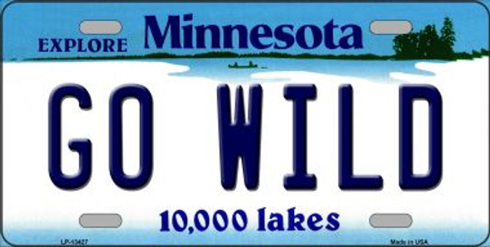 Go Wild Novelty Metal License Plate Tag LP-13427