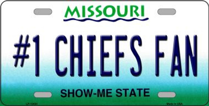 Number 1 Chiefs Fan Novelty Metal License Plate Tag LP-13430