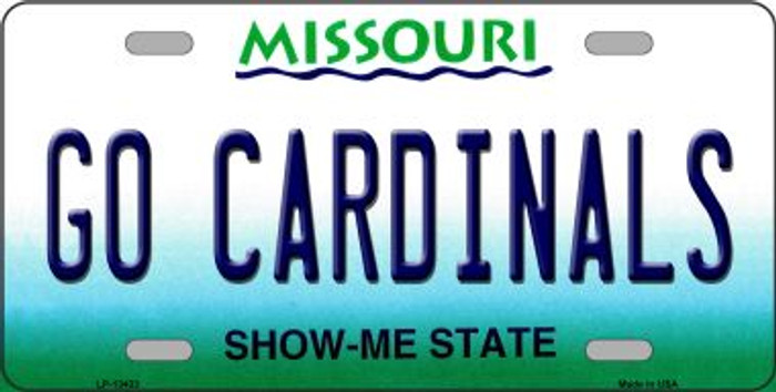Go Cardinals Novelty Metal License Plate Tag LP-13433