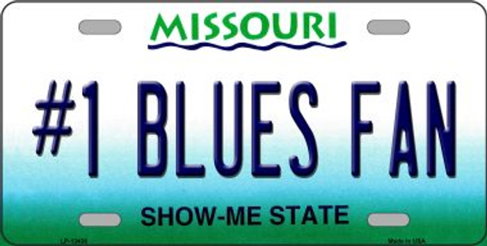 Number 1 Blues Fan Novelty Metal License Plate Tag LP-13436