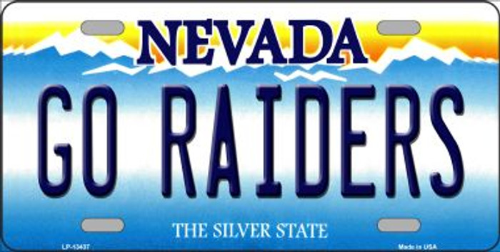 Go Raiders Novelty Metal License Plate Tag LP-13437