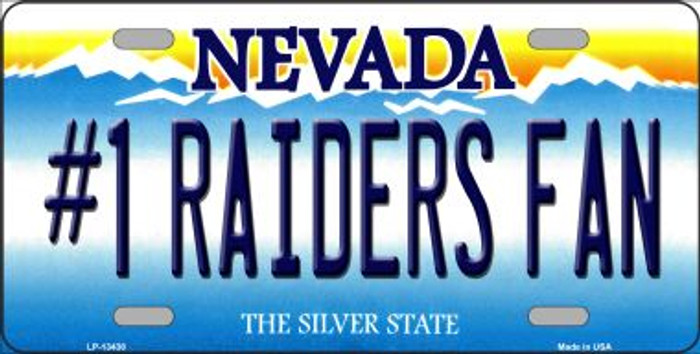 Number 1 Raiders Fan Novelty Metal License Plate Tag LP-13438