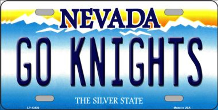Go Golden Knights Novelty Metal License Plate Tag LP-13439