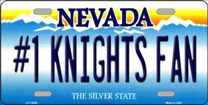 Number 1 Golden Knights Fan Novelty Metal License Plate Tag LP-13440