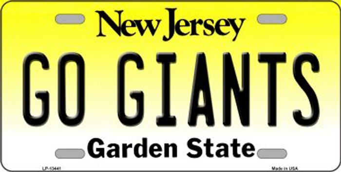 Go Giants Novelty Metal License Plate Tag LP-13441