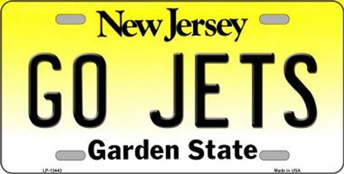 Go Jets Novelty Metal License Plate Tag LP-13443
