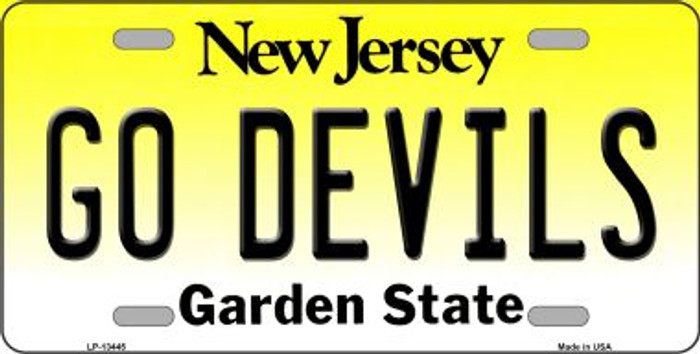 Go Devils Novelty Metal License Plate Tag LP-13445