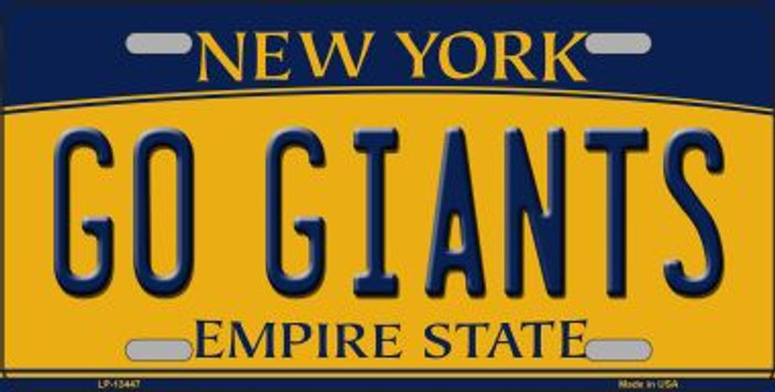 Go Giants Novelty Metal License Plate Tag LP-13447