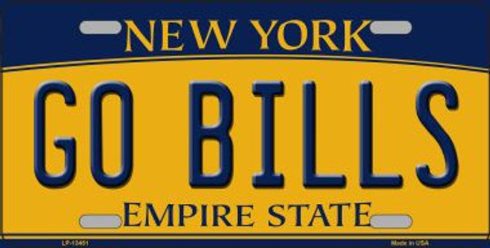 Go Bills Novelty Metal License Plate Tag LP-13451