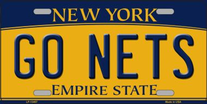 Go Nets Novelty Metal License Plate Tag LP-13457