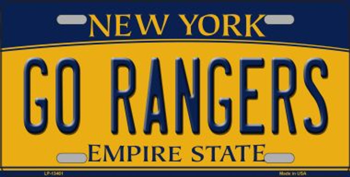 Go Rangers Novelty Metal License Plate Tag LP-13461