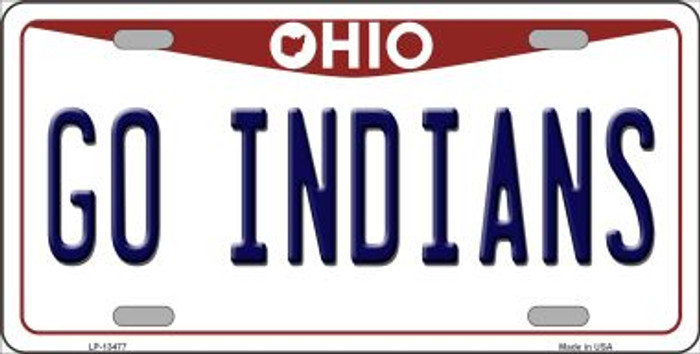 Go Indians Novelty Metal License Plate Tag LP-13477