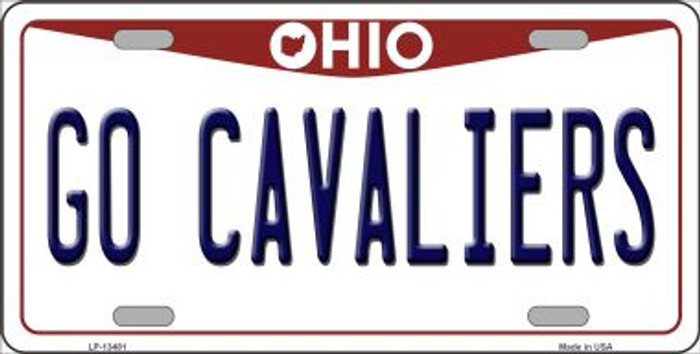 Go Cavaliers Novelty Metal License Plate Tag LP-13481
