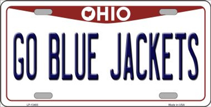 Go Blue Jackets Novelty Metal License Plate Tag LP-13483