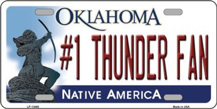 Number 1 Thunder Fan Novelty Metal License Plate Tag LP-13486