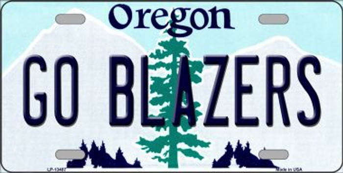 Go Blazers Novelty Metal License Plate Tag LP-13487