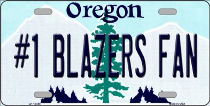 Number 1 Blazers Fan Novelty Metal License Plate Tag LP-13488